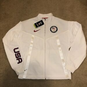 Nike Team USA Windrunner Medal Stand Jacket Olympic CK4552-100 Men's Sz S New