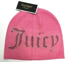NWT Juicy Couture Black Label Beanie Hat Cap Pink Womens OS
