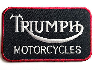 EMBROIDERED TRIUMPH MOTORCYCLE PATCH large cloth iron on collectors jacket badge
