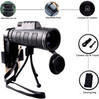 40X60 Focus Zoom HD Optics Lens Monocular Telescope+Tripod+ Clip For Smart Phone