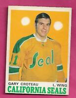 1970-71 OPC  # 189 GOLDEN SEALS GARY CROTEAU  ROOKIE EX-MT CARD (INV# C3772)