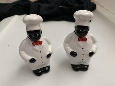 chef salt and Pepper shakers Black Men