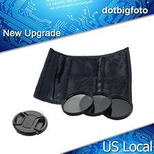 52mm ND2  ND4  ND8  Lens Cap Filter set  kit Neutral Density for DSLR Camera US