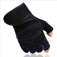 Weight Lifting Padded Leather Gloves Fitness Training Body Gym Outdoor Camping