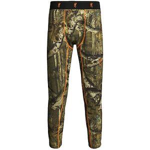 Browning Hells Canyon Base Layer Pants Bottoms - Midweight MO or Realtree MAX 1