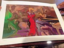 "STEVE BLOOM Seriolithograph Hand S/N Titled ""Jazz Singer"" Fine ART"