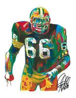 Ray Nitschke Green Bay Packers NFL Football Sports Print Poster Wall Art 8.5X11