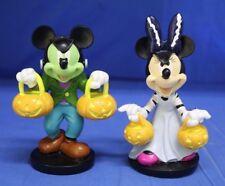 Disney Mickey & Minnie Mouse Frankenstein & Bride Halloween Vampire Figurine