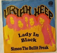 "URIAH HEEP⚠️Unplayed⚠️1974-7""-Lady In Black/Simon the..-Vertigo 6059037 Germany"