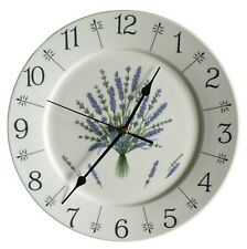"Lavender  lavendula pattern 10.5"" large ceramic  wall clock - boxed"