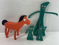 Vintage Gumby and Pockey Bendable 1980s 1990s Toys Jesco LOT
