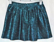 RIVER ISLAND Size 10 Cute Metallic Blue Black Short Puffball Tulip Skirt CLEAN
