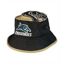 221305 PENRITH PANTHERS NRL 2017 BUCKET HAT S/M TEAM COLOURS ADULT SIZE BRIM
