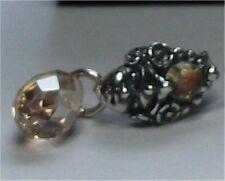 Genuine Sterling Silver TROLLBEADS BILQIS EARRINGS. New
