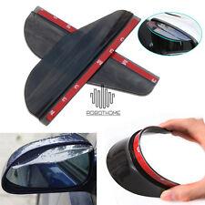 2x Black Rear View Side Mirror Flexible Sun Visor Shade Rain Shield Water Guard