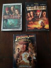 Dvd Action Adventure Lot of 3 Movies , Pirates of the Caribbean, Indiana Jones