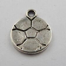 Wholesale free ship 280pcs tibet silver soccer ball charms 18x14mm