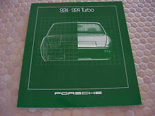 PORSCHE 924 924 TURBO PRESTIGE SHOWROOM SALES BROCHURE 1981 USA EDITION.