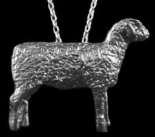Sheep Pendant with Chain, Sterling Silver, Custom-Made!  One Of A Kind!  Unique!
