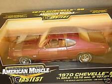 10 Fastest, ERTL 1/18, 1970 CHEVELLE, Madera Maroon