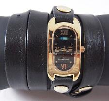 LA MER Watch Black Gold / Black Face Soho Wrap Watch