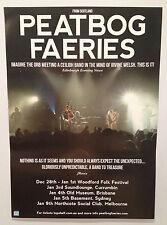 PEATBOG FAERIES 2013/2014 Australian Tour Poster A2 Dust Croftwork Woodford *NEW