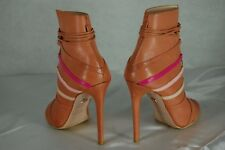 SUPER SEXY!!! RUTHIE DAVIS HIGH HEEL LACE UP TAN LEATHER ANKLE  BOOTS EU 36 US 6
