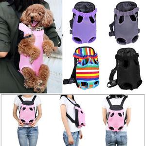 Pet Carrier Backpack Adjustable Pet Front Cat Dog Carrier Travel Bag Legs Out YC