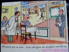 MN146 - MENU HUMORISTIQUE CUISINE ITALIENNE - JEAN BELLUS