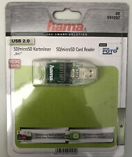 hama   USB 2.0 Card Reader Kartenleser Kartenlesegerät   SD/microSD auf USB 2.0