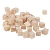 50 pcs Holzwürfel Blankowürfel Spielsteine Bastel Holz Quadrat Würfel Für