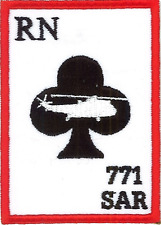 771 NAS Royal Navy Search and Rescue Ace of Clubs Mod Embroidered Patch