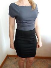 Abito vestito donna ragazza TOP SECRET tg S 40 tubino elegante nero grigio corto