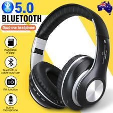 NEW Wireless Headphones Bluetooth Earphones Headset Rechargeable with Mic AU