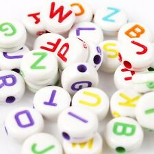 500pcs Charms Colorful Mixed Alphabet/Letter Acrylic Spacer Beads 7mm LH