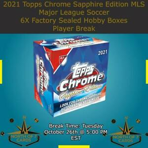 Cristian Casseres 2021 Topps Chrome Sapphire MLS Soccer 6X Boxes BREAK #3