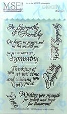 NEW! My Sentiments Exactly! Clear Stamps  Y213 Sympathy Innies & Outies