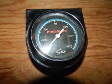 Vintage Sun Blue Line Pressure Gauge with Chrome Mounting Panel