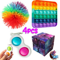 4PC Fidget Sensory Toys for for Autism, ADHD Stress Relief,Anti-Anxiety For Kids