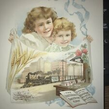 Trade card 1800's advertising Silverson Milling 5 1/2 X 7 inches use ebay Mag.