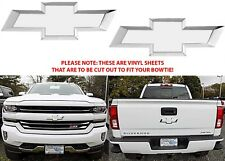 Colormatched Summit White Vinyl Bowtie Overlays For 2016-2018 Silverado New USA
