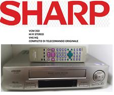 VIDEOREGISTRATORE vcr LETTORE VHS SHARP VC-M350 OTTIMO ESTETICAMENTE TELECOMANDO