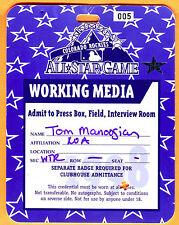 1998 MLB BASEBALL ALL STAR GAME PRESS PASS @ ROCKIES-ROBERTO ALOMAR MVP
