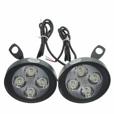 XGODY Motorcycle Headlight Spot Fog Lights 4 LED Front Head Lamp 12V 10W ATV