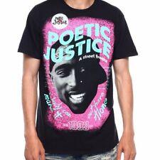 Tupac Poetic Justice 2Pac A street Romance 1993 Black Tee Shirt New