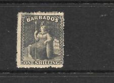 BARBADOS   1861-70  1/-   BRITANNIA   MH   SG 35