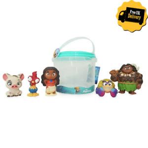 Disney Moana & Friends Bath Toy Action Figures Bath Time Toy Figure 5 Piece Set