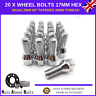 20 x Alloy Wheel Bolts M14x1.5 Nuts For Audi A3 With After-market Alloys