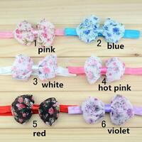Infant Baby Girls Bowknot Hair Band Floral Flowers Headband
