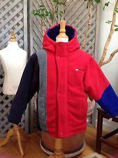REVERSIBLE COAT Boys 7 Fleece Blue & Red LONDON FOG Fall Winter Spring JACKET